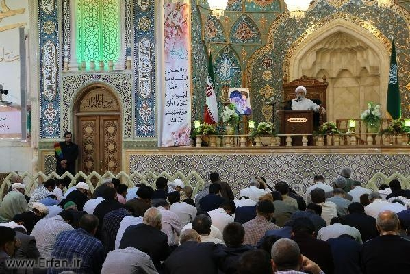 Photos/ Rajab 1438, holy shrine of Hazrat Masoumeh (AS)- lecture by proffesor Ansarian