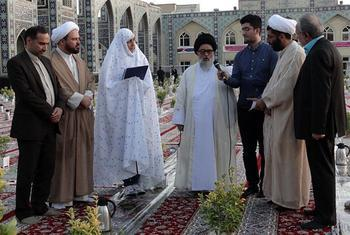 Costa Rican lady convert to Shia Islam at Imam Ridha holy shrine; Islam guided me to way of awakening and felicity